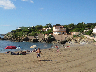 "De strand ""le grand Boucharel"" nabij de villa Martinache (200m)"